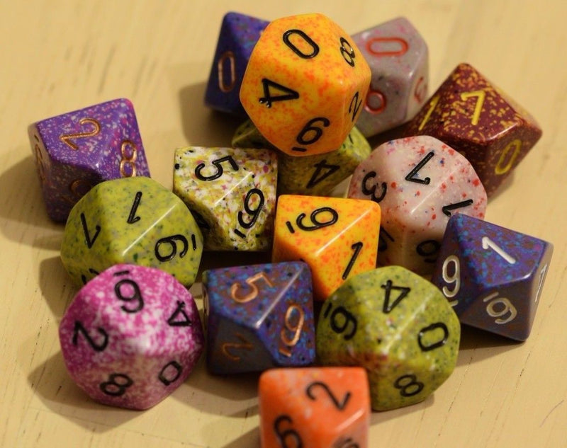 Random Set of 6 d10 Ten Sided RPG Dungeons and Dragons Dice (6) Chessex Magic