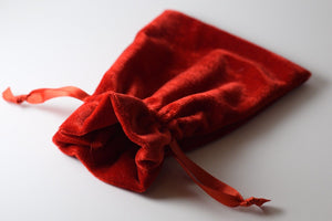 "Red Large Soft Velvet 4"" x 6"" Gift Bag Cards RPG Game Dice Bag Counter Pouch"