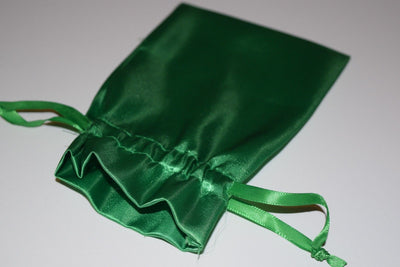 Large Green Satin Gift Bag Game Dice Bag  Counter Pouch 4