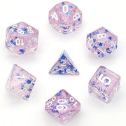 Purple Glitter Stars Dice Series