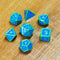 Green Paint Blue Enamel Metal Dice