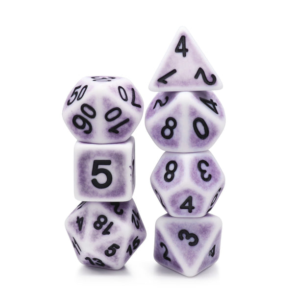 Lavender Ancient 7-Dice Set