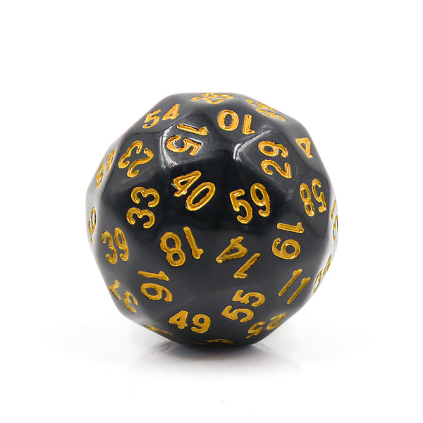 D60-Black Opaque w/Yellow Numbers