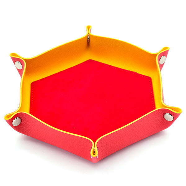 Red/ Yellow Hex Foldable Flannel Tray