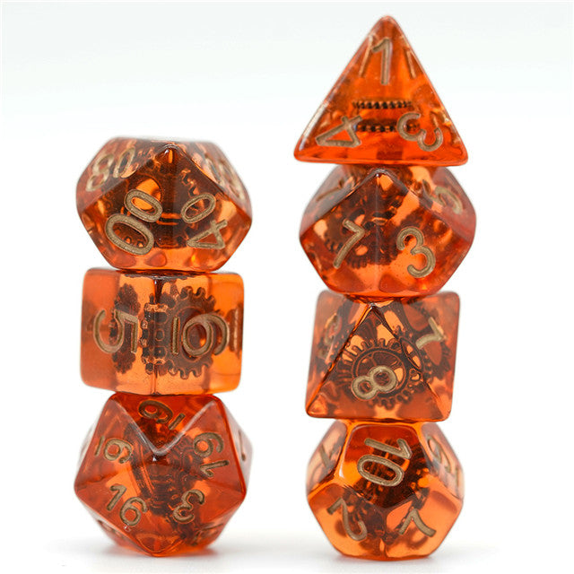 Gearwheel Dice 7-Dice *Fusion of Metal and Resin