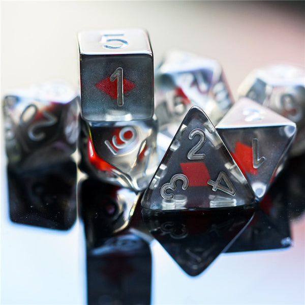 """Diamonds"" Shape of My Heart 7-Dice Set"