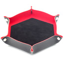 Black/ Red Hex Foldable Flannel Tray