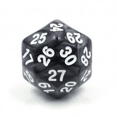 D30 Black Pearl Single Die 30 Sided/s by HDdice / HengDadice