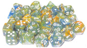 Festive Autumn/white 7-Die Set Lab Dice