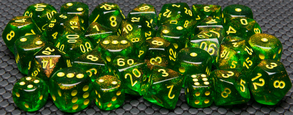 Chessex Maple Green/yellow (Multiple Options) *read description*