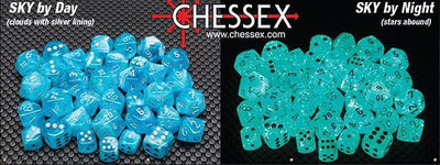Chessex Luminary Sky/Silver (Multiple Options) *read description*