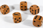 Brown Dice with Black Scorpions Dice Set 6 Sided Bunco RPG D6 16mm Roll