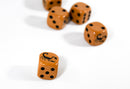 Brown Dice with Black Scorpions Dice 6 Sided Bunco RPG D6 16mm Roll