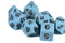 Blue Ancient 7-Dice Set
