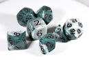 Blend Green/White Ancient 7-Dice Set