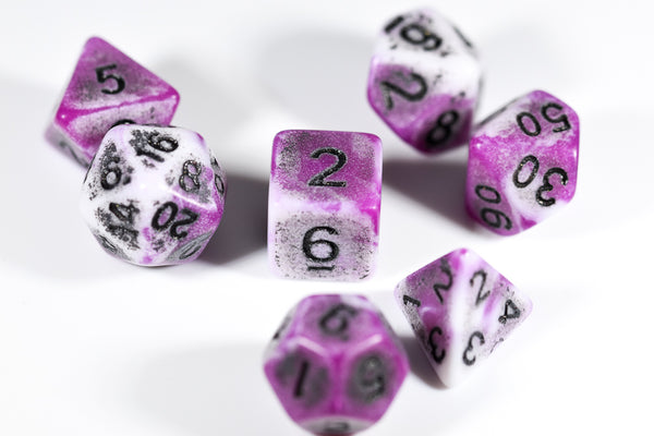 Blend Purple/White Ancient 7-Dice Set