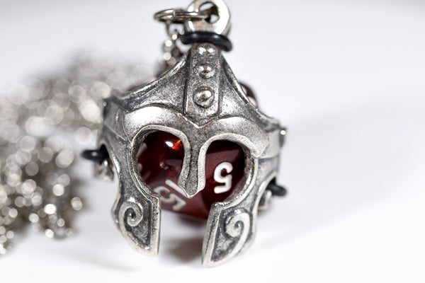 Pendant d20 Helmet w/ Old Silver Finish