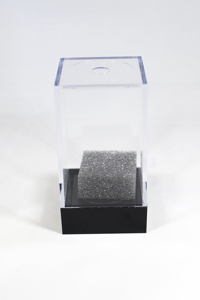 "Empty Crystal Display Box (M) Tall Clear w/Black Lid  2½""x 1½""x 1½"""