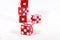 Red Casino Dice d6 19mm Razor Edge No Serial Numbers or Names Clean (1 Piece)