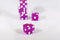Purple Casino Dice d6 19mm Razor Edge No Serial Numbers or Names Clean