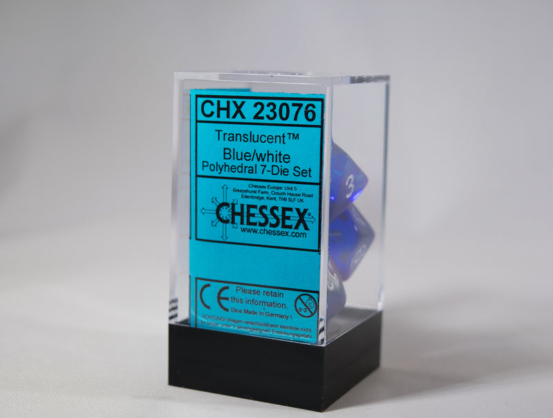 *New* Translucent 7-Die Chessex Sets Made in Germany -Multiple Color Options-