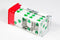 Lucky White Dice with Green Clovers Pair 25mm