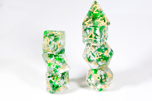 Green Clover Pieces Dice