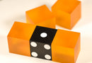 Blank Orange 19mm Casino Dice