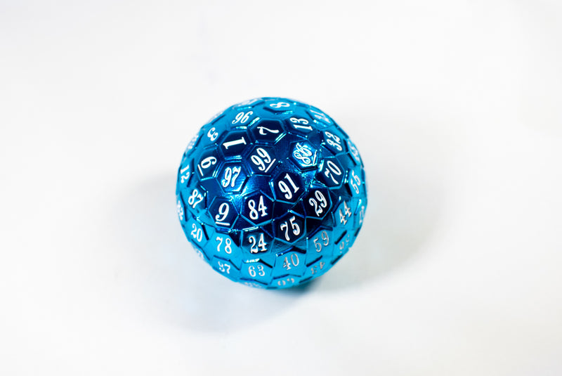 Blue Plated Metal d100 Dungeons and Dragons RPG