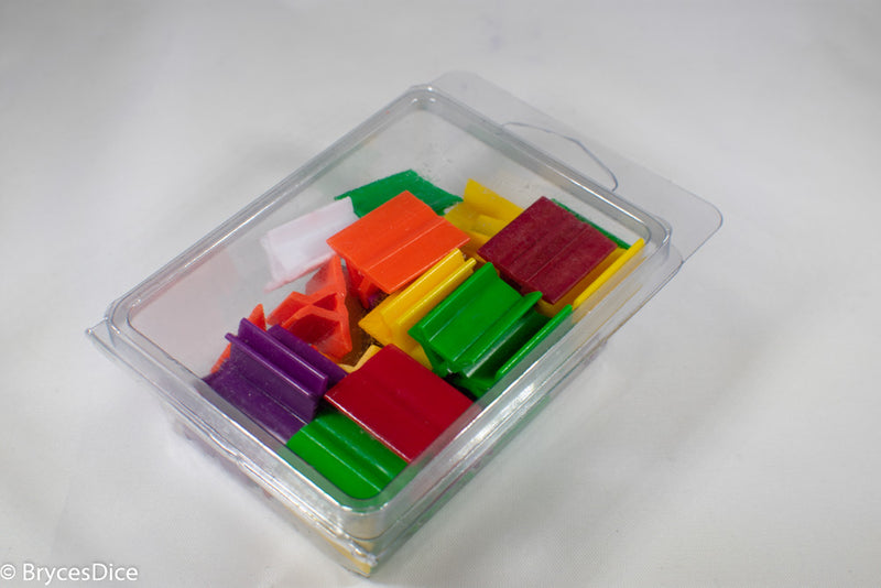 Pack of 35 Rectangle Card Stands (18mm x 20mm) - Assorted Colors CHX 802AA