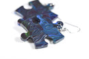 Earrings Lustrous Puzzle Piece Pair (Green/Purple/Blue) [11]