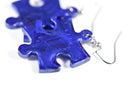 Earrings Scarab Puzzle Piece Pair (Blue) [12]