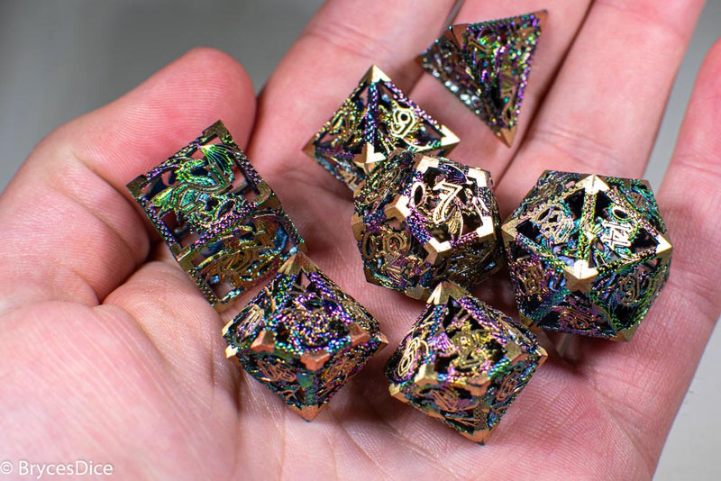(Golden Rainbow) Deadly Dragon Dice: Shards of Oblivion Hollow Metal