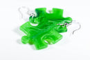 Earrings Vortex Puzzle Piece Pair (Green) [14]