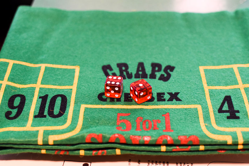 "Pacific Gaming Co. Craps Game 1976 Felt Layout/Pacific 24"" x 36"""