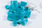 Earrings Vortex Puzzle Piece Pair (Teal/Blue) [18]