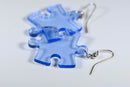 Earrings Translucent Puzzle Piece Pair (Light Blue) [19]