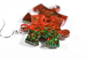 Earrings Gemini Puzzle Piece Pair (Green/Red) [23]