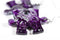 Earrings Gemini Puzzle Piece Pair (Purple/Grey) [24]