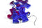 Earrings Gemini Puzzle Piece Pair (Purple/Blue) [25]
