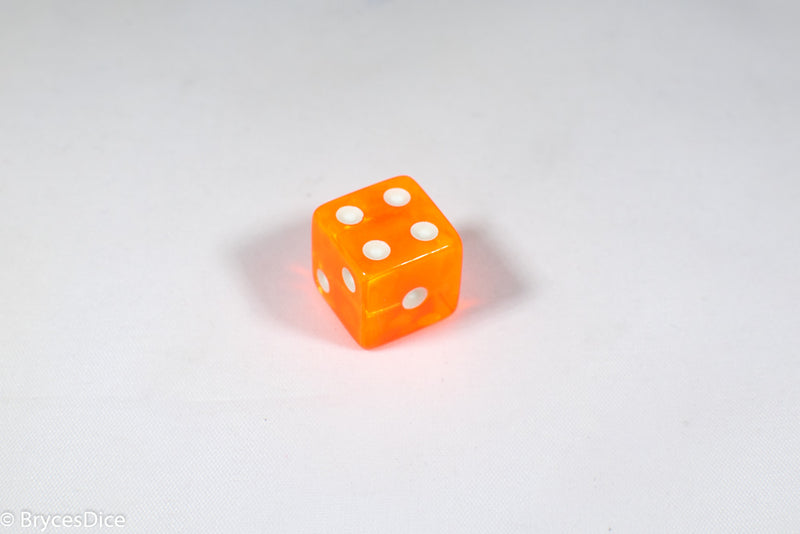 Square Corner 16mm Translucent Dice (Red/Orange/Yellow/Green/Blue/Purple) *sold by the piece