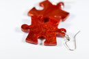 Earrings Scarab Puzzle Piece Pair (Orange) [26]