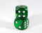 OOP Rare 30mm Velvet Dark Green Dice New RPG DnD with Silver Pips by Chessex Out of Print