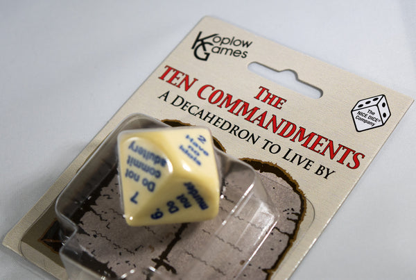The 10 Commandments D10 10 Sided Christian Religious Dice Koplow Dice