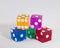 Multi-Color Casino Dice d6 19mm Razor Edge No Serial Numbers or Names Clean