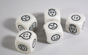 Kids Smiley Face Emoji Dice Happy, Sad, Love, Scared, Mad, Upset by Koplow
