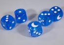 Custom Crescent Moon Sparkle Sky Blue Borealis Chessex Magic Rare by BrycesDice