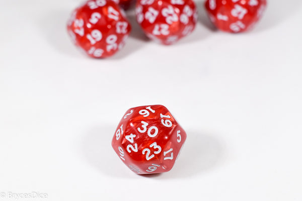 d30 Red Pearlescent Single Die 30 Side's by Chessex (per die)