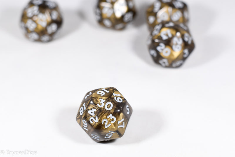 d30 Antique Bronze Pearlescent Single Die 30 Side's by Chessex (per die)