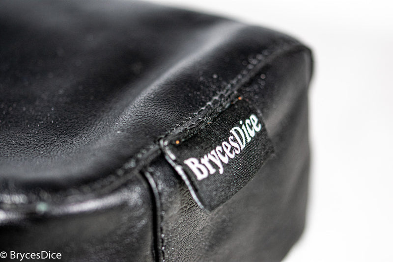 """Traveler"" Leather Dice Bag / Purse (Black)"